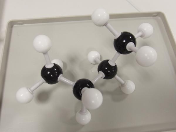 ブタンの分子モデル