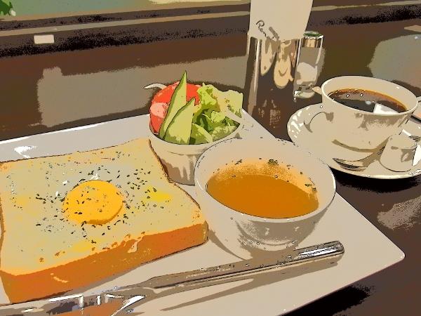 喫茶店の朝食