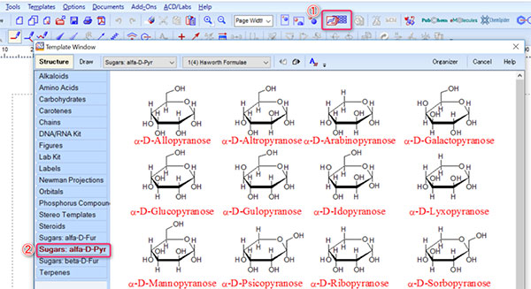 ChemSketch画面
